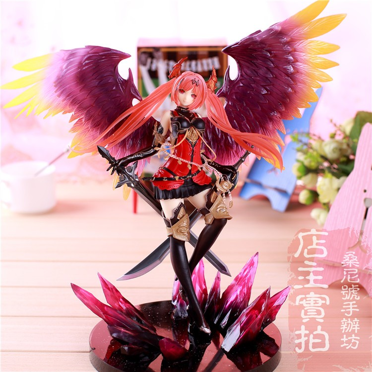 Dark angel lovely 28CM PVC Hand model collection Rage of Bahamut anime toy doll articles Action Figure ornaments christmas 5pcs lots 2017 film extraordinary corps mecha five beast hand collection model toy