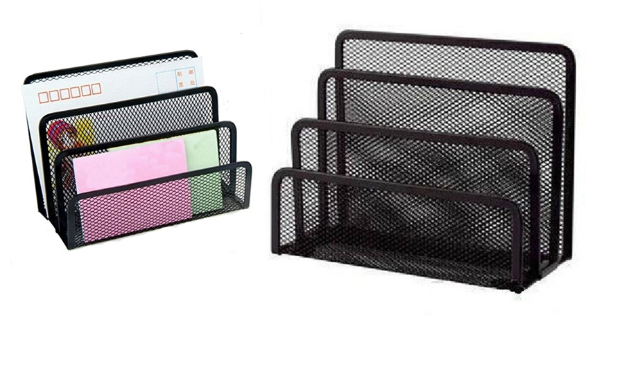 Blel hot 1pcs 3 section mesh letter note paper business card blel hot 1pcs 3 section mesh letter note paper business card collection holder sorter desk organizer black in file tray from office school supplies on colourmoves
