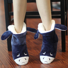 Winter cotton-padded Women package with slippers cotton-padded shoes high thermal cotton-padded shoes slippers short fits most