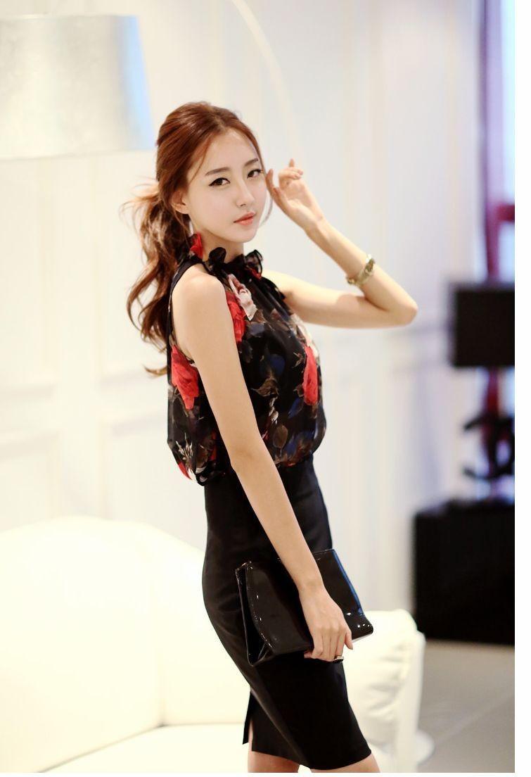 HTB1BrRUIVXXXXctXpXXq6xXFXXX4 - New Fashion Women Sleeveless Chiffon Floral Print Blouses Tops Shirt