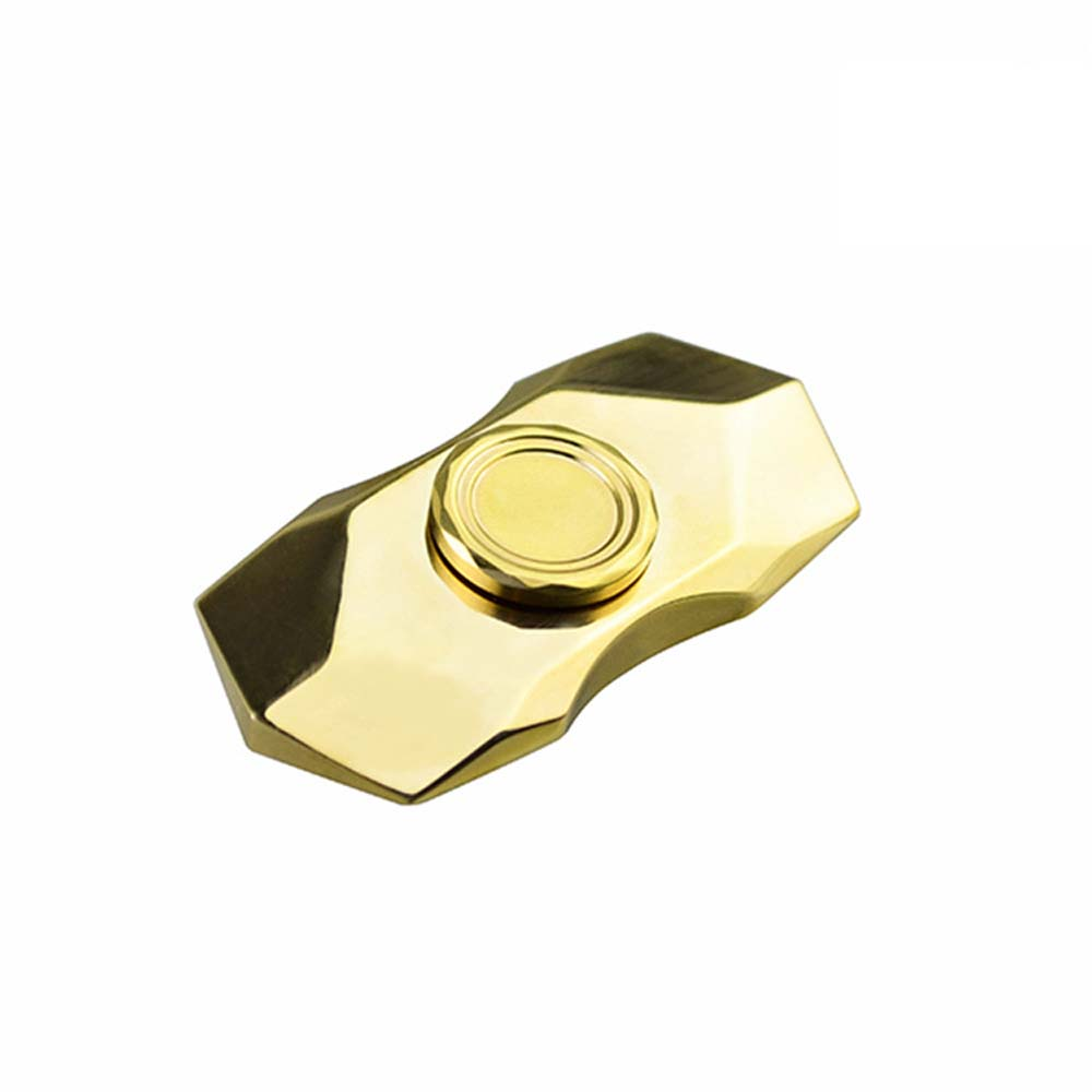 2017 New Diamond Decompression Gold Spinner EDC Fidget Toys Hand Spinner Brass Fidget Spinner ADHD Adults