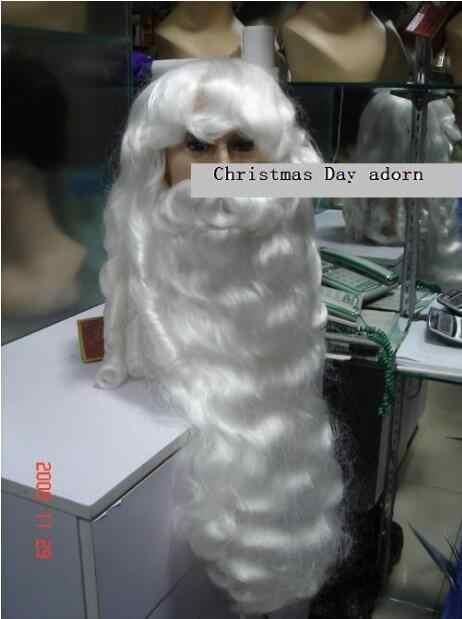 วิกผม Amazing snowy สีขาว Santa Claus เครา + วิกผม {ชุด} วันคริสต์มาสประดับจัดส่งฟรี