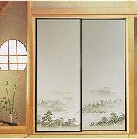 Japanese Fusuma Paper 2 Sheets Pair Washitsu Woodblock Decor Decorative Door Wall Paper Soji Sliding Door