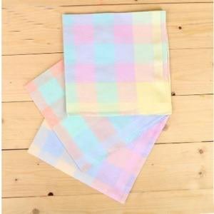 Image 3 - Freeshipping 12pcs 43cm * 43cm color cotton handkerchief Women Men