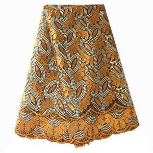 Image 2 - Francese Tessuto di Pizzo Teal Verde In Rilievo Tessuto Africano Del Merletto 2020 di Alta Qualità Pizzo Ricamato Tessuto per la Cerimonia Nuziale Nigeriano Abiti