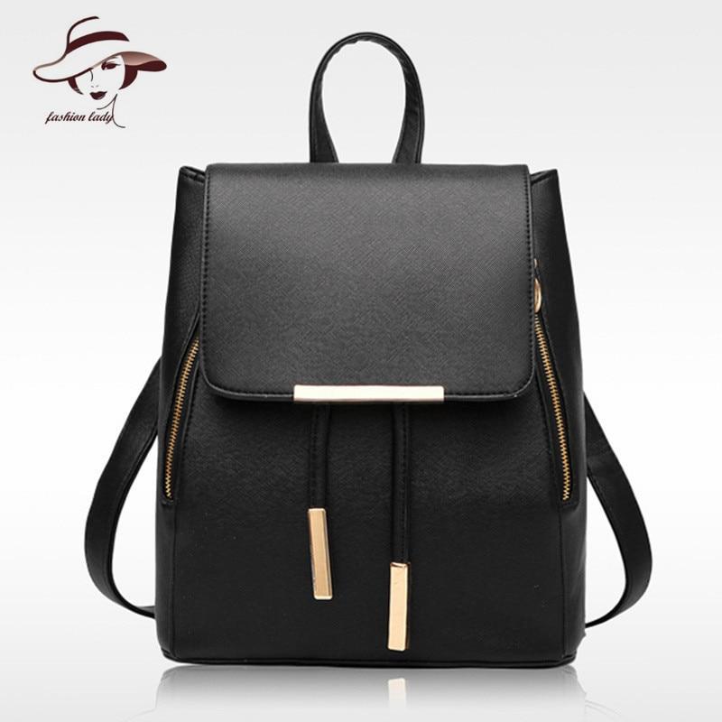 2017 New Fashion Women Bag PU Leather Backpack High Quality Women s School Bag Casual Travel