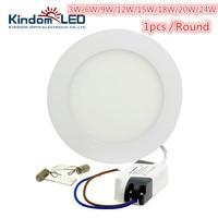 KINDOMLED 3W Round LED Panel Light AC85 265V IP44 2835SMD LED Ceiling Light Ultra Lamp Downlight