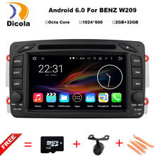 2G RAM+32G ROM Android 6.0 Octa Core Car DVD Multimedia Player For Benz W209/W203/W168/M/ML/W163/W463/Viano GPS Stereo Head Unit
