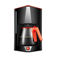 DMWD 1.5L Large Capacity Automatic Drip Type Coffee Machine Tea Boiler American Coffee Maker 220V 600W For Office Cafe