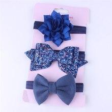 3 шт.; Детская повязка на голову для новорожденных девочек; резинка для волос; эластичные аксессуары; хлопковая повязка с бантом; аксессуары для волос для маленьких девочек