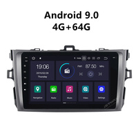 JSTMAX 8'' Android 9.0 4G + 64G ISP Screen Car Radio Stereo Player For Toyota Corolla 2009 2010 2011 2012 2013 GPS Navigation