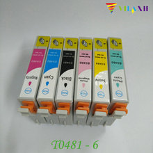 Computer Office - Office Electronics - T0481 - T0486 Ink Cartridge For Epson Stylus Photo R200 R220 R300 R300M R320 R340 RX500 RX600 RX620 RX640 Printer
