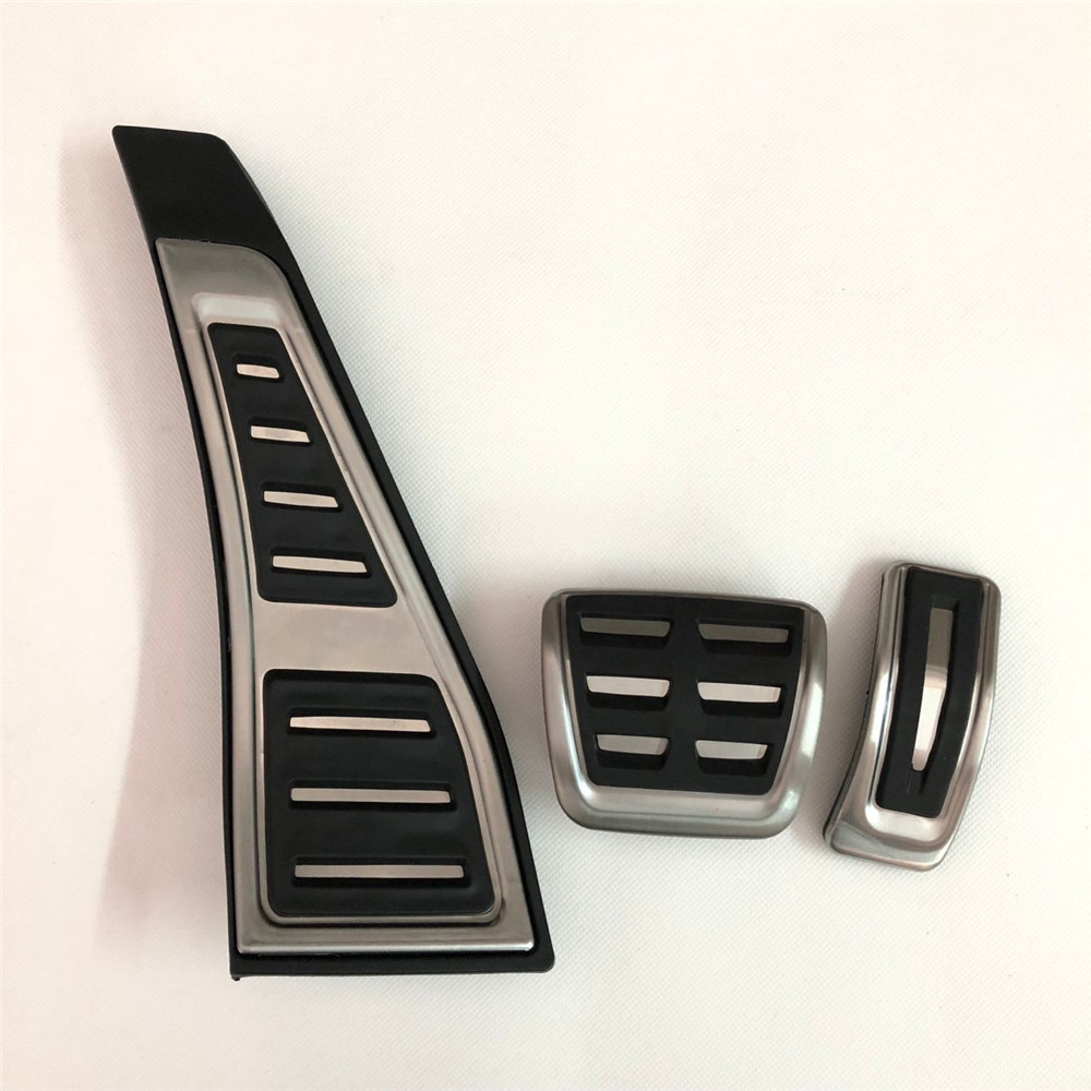 RHD Gas Fuel Brake Footrest Foot Pedal Cover Cap Pad Plate AT For Audi A4 S4
