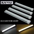 Wholesale 10pcs/lot Milky Cover 2G11 LED Tube Light real 8W/12W/15W/18W/20W 2835SMD AC85-265V LED Horizontal Plug Lamp free ship