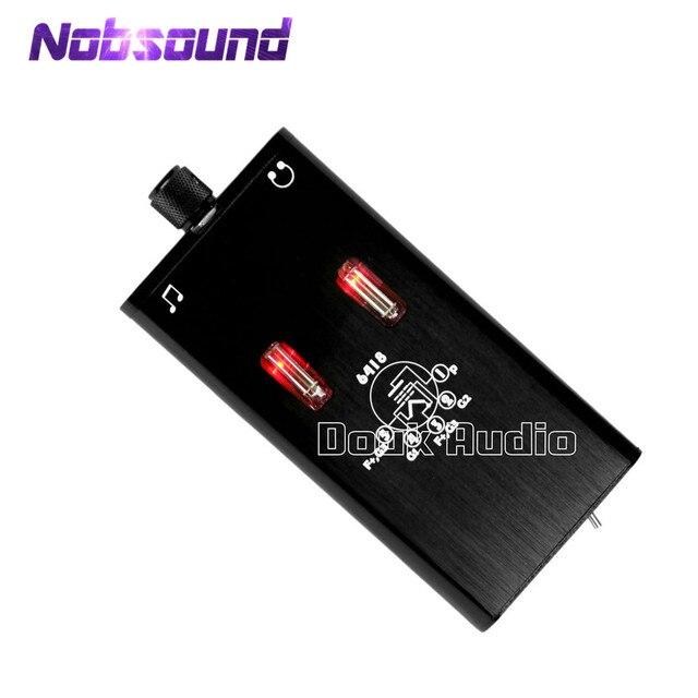 Nobsound küçük ayı B5 Mini taşınabilir Ultra ince taşınabilir vana tüp kulaklık Amp ses HiFi amplifikatör