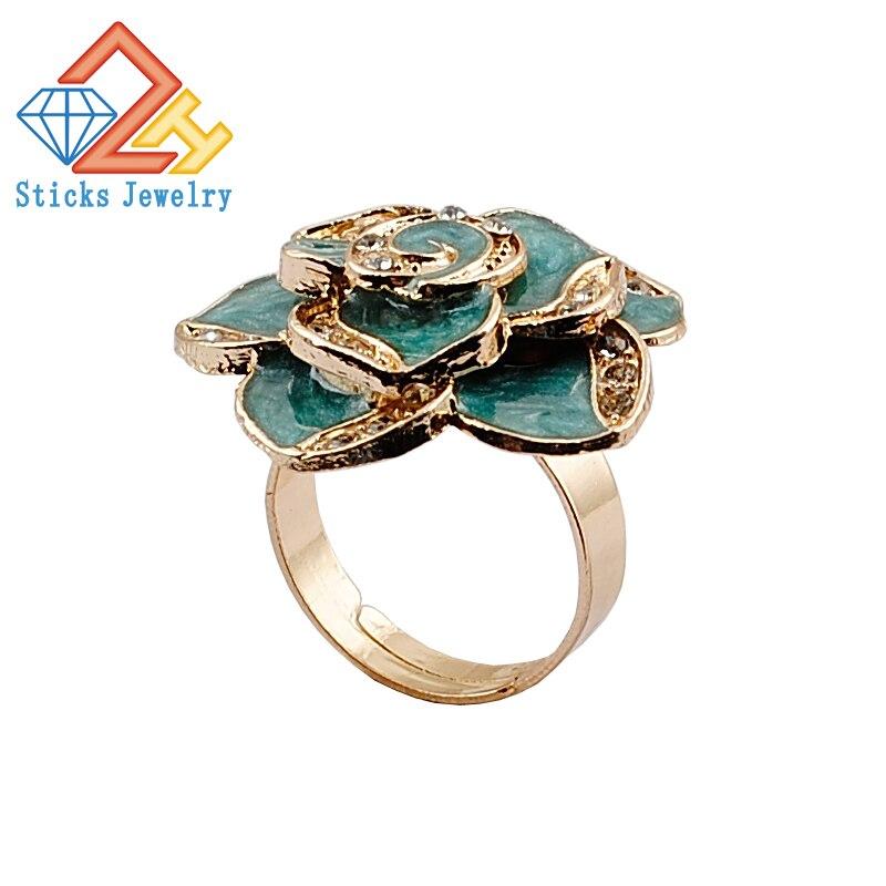Aleación de moda anillo patrón perspectiva aleación goteo envío ...