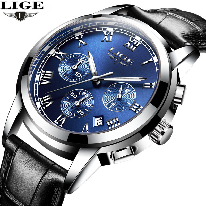 Relojes Hombre 2017 LIGE Mens Watches Top Brand Luxury Man Sport Watch Male Fashion Business Clock Men Leather Quartz WristWatc doobo men watch fashion mens watches top brand luxury leather business watch men clock saat relojes hombre 2017 relogio montre