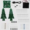2016 Más Nuevo Colorido Árboles de Navidad del RGB led electrónica kit diy para el regalo De Navidad/regalo de Año Nuevo