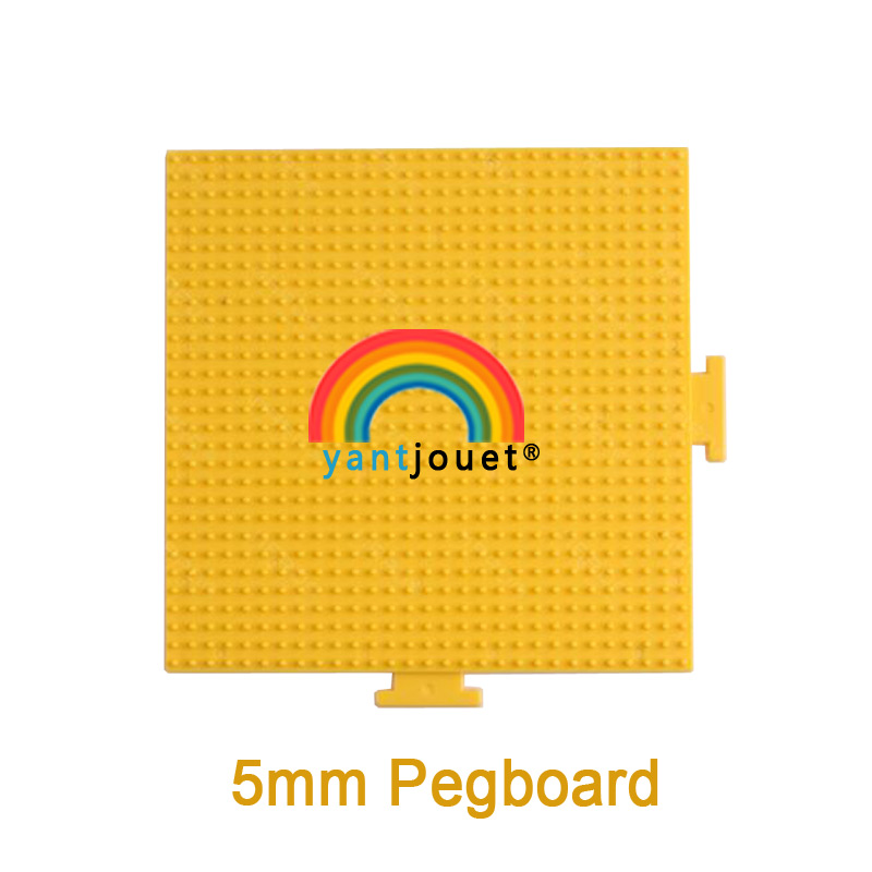 Yant Jouet 5mm Hama Beads Yellow Pegboard High Temperature Resistance Template Board Square DIY Figure Material