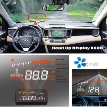 For TOYOTA RAV4 RAV-4 RAV 4 - Car HUD Head Up Display - Safe Driving Screen Projector Refkecting Windshield image