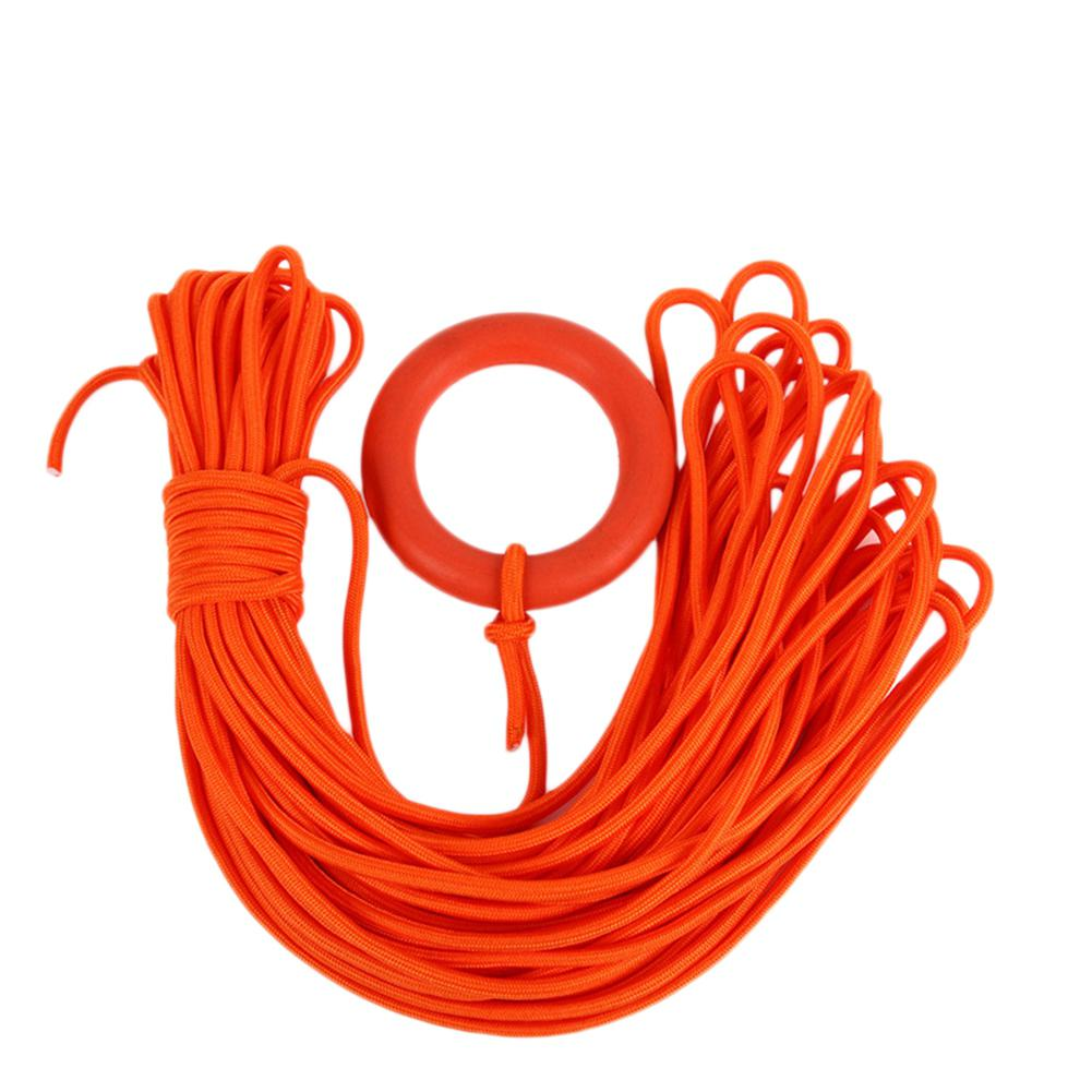 30M Diameter 8MM Floating Lifeline With Buoyant Water Rescue Rope Safety Line With Hand Ring For Outdoor Water Sports