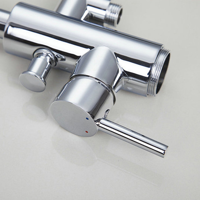 Online Shop ONS Moderne Chrome Poolse Badkamer Douche Set Kraan ...