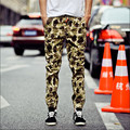 2015 Hot Selling Spring Autumn Camouflage Skinny Men's Pants Casual Slim Joggers For Men