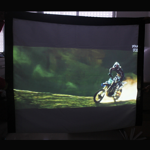 100 120 150 180 200 250 300 inch Projector Screen White Projection Screen Foldable 16:9 4:3 For Home Theater LED DLP Porjector