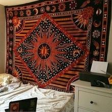 Hippie tapisserie à la mode yoga numérique imprimé serviette de plage suntan crème carré châle indien mandala tapisseries GT0025