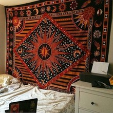 hippie tapestry Fashionable yoga digital printed beach towel suntan cream square shawl Indian mandala tapestries GT0025