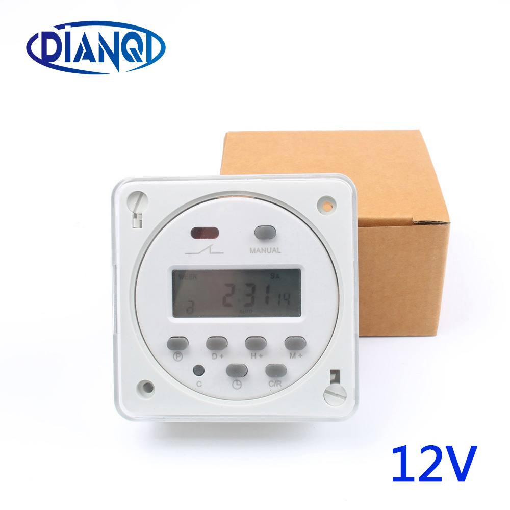 Stable CN101A 12V Digital LCD Power Timer weekly Programmable Time Switch Relay 8A TO 16A CN101 with protective cover weekly