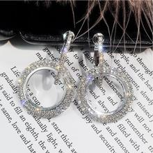 Women high-grade elegant crystal earrings (16 colors)