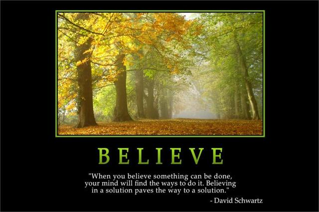 2017 Wall Art Fallout Believe david Schwartz Quotes Inspirational