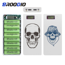 Colored Drawing 18650 Battery Charger Mobile Phone Charger DIY Shell 8*18650 battery Dual USB Power Bank Case Charging Box цена