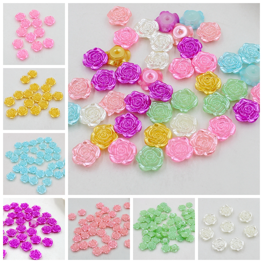 100 LILAC PEARL BEAD HEARTS 11mm x 11mm  CARD MAKING ~ SCRAPBOOK ~ WEDDING 49C