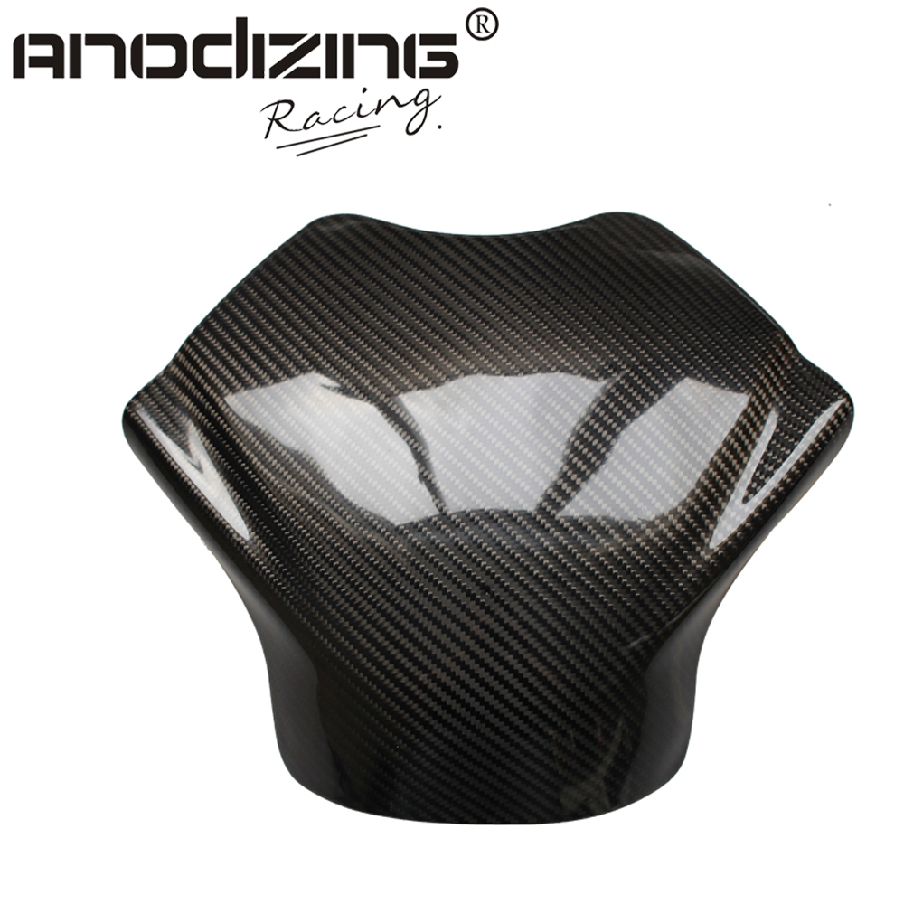 Carbon Fiber Fuel Gas Tank Cover Protector For Yamaha YZF R6 2008-2012 black color motorcycle accessories carbon fiber fuel gas tank protector pad shield rear carbon fiber for kawasaki z1000 03 06