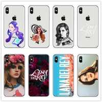 Funda de teléfono TPU suave de silicona transparente Lana Del Rey modelo cantante Sexy para iPhone 4 5 6 7 8 funda trasera Plus X