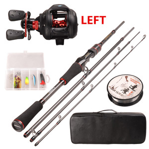 Image 3 - Smart Casting Fishing Set 6.2:1/5+1BB Baitcasting Reel 1.98m M Casting Fishing Rod 100m Nylon Fishing Lure Accessories Tackle
