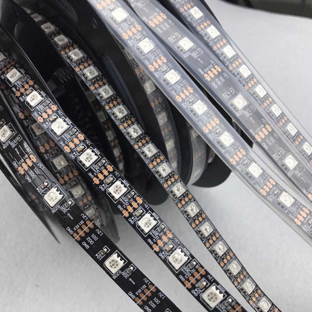 DC12V GS8208 address RGB farbe; led-pixel streifen; schwarz pcb; 30 leds/60 leds/90 leds pro meter; ähnliche mit WS2813/TM1914