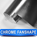 Car Exterior Styling Chrome Stickers For Cars Fanshaped Vinyl Wrap Fanshped 30 Meter