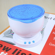 Jiawen Ocean Sea Waves LED Night Light Projector Speaker Lamp Christmas gift Free shipping