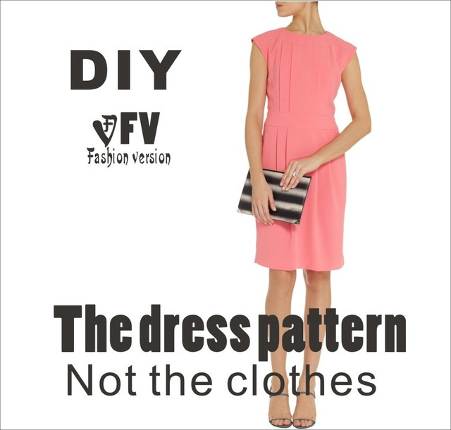 Ropa DIY el vestido Vestidos Costura patrón de corte de dibujo ...