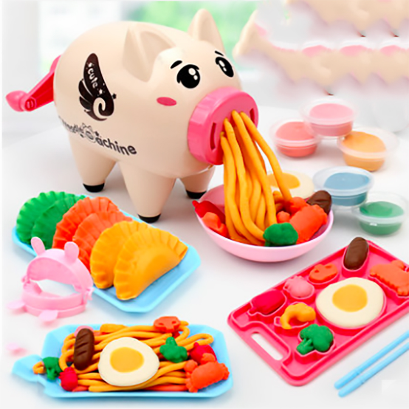 Modeling Clay Kids Toy Creative DIY Handmake Color Mud Dough Pig Noodles Dumpling Model Machine Kitchen Role Pretend Play ToysModeling Clay Kids Toy Creative DIY Handmake Color Mud Dough Pig Noodles Dumpling Model Machine Kitchen Role Pretend Play Toys