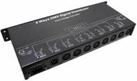 DMX128 DMX512 HUB amplifier/Splitter/DMX signal repeater 8 position output ports DMX signal distributor 8 Channel DMX output