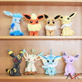 "2015 cheapest Free Shipping 8 PCS/lot  6-8"" FLAREON VAPOREON EEVEE ESPEON JOLTEON Plush Toy pokemon eevee toys for children"