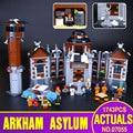Lepin 07055 1628pcs New Batman Movie Series THe Arkham`s Lunatic Asylum Set  Building Blocks Bricks Toys 70912