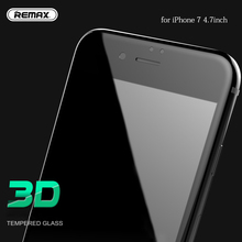 3D Arc Edge Tempered Glass for iPhone 7 Full Cover Screen Protector Black White Color for iPhone7 4.7inch Glass Film Shield