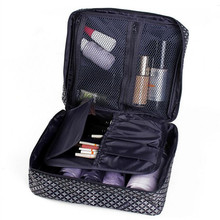 Big Cosmetic Bag Travel Makeup Wash Case Pouch  Organizer Beauty Products Brushes Lipstick Toiletry Storage Accessories Supplies