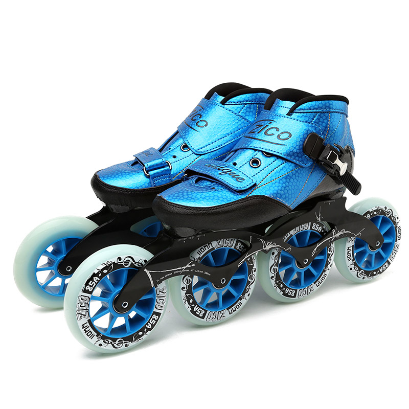 Speed Inline Skates Carbon Fiber 4*90/100/110mm Competition Skates 4 Wheels Street Racing Skating Patines Similar Powerslide powerslide inline speed skate frame 3 x 110mm aluminum alloy 7075 for 3 wheels speed skating shoes basin free shipping base