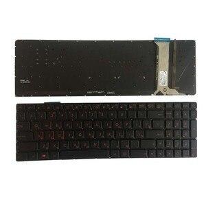 Image 1 - Новый для ASUS GL752 GL752V GL752VL GL752VW GL752VWM ZX70 ZX70VW G58 G58JM G58JW G58VW подсветкой Русский RU Клавиатура ноутбука черный